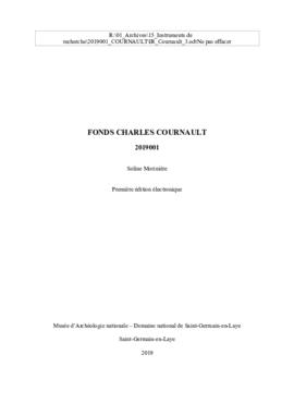 Fonds Charles Cournault 1